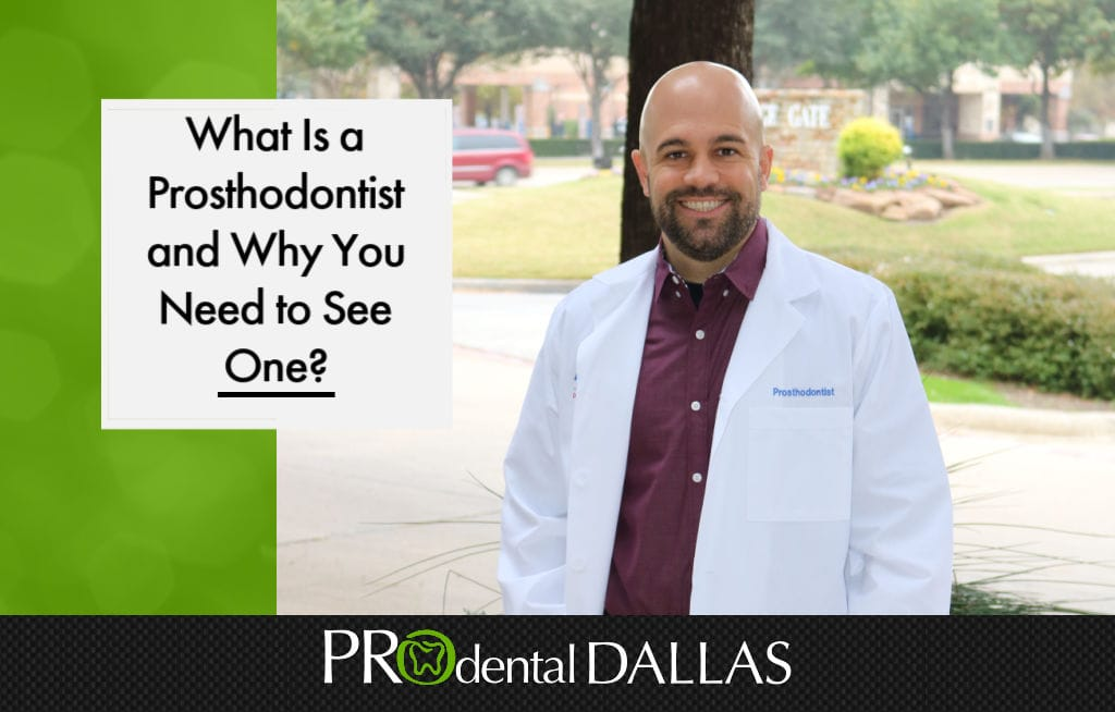 Prosthodontists are dental specialists that can restore or replace teeth that are missing or damaged. They are capable of giving someone a full mouth makeover. In order to get the training needed for this specialty, they go to school 3 extra years after they get their dental degree.