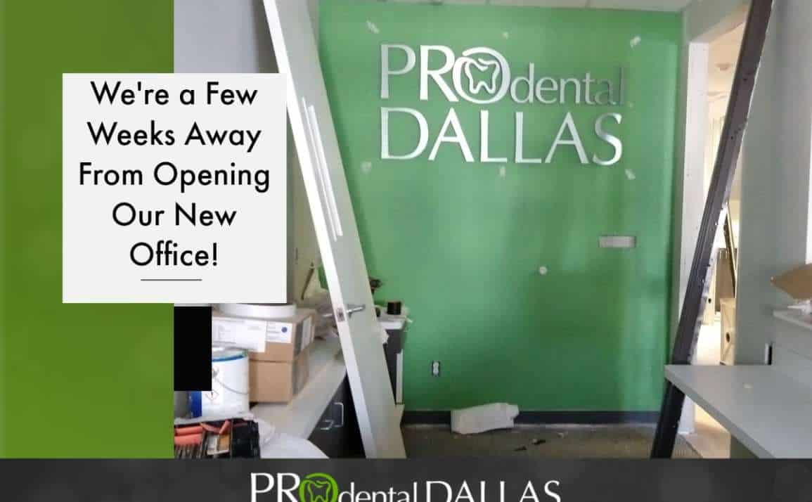 We're a Few Weeks From Opening Our New Office